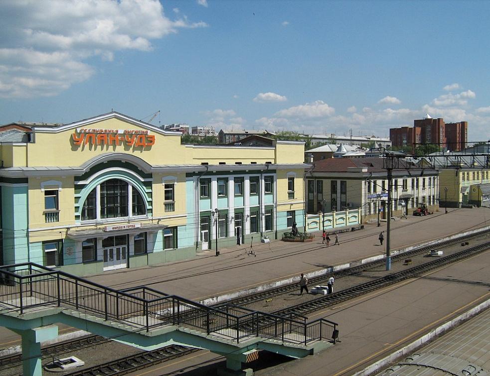 Улан-Удэ - столица Бурятии. Железнодорожный вокзал.