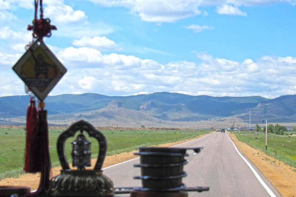 Дорога в Иволгинский дацан